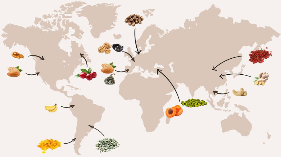 Jean-Louis Bassinet, plus de 150 références de fruits secs sélectionnés dans les meilleurs terroirs